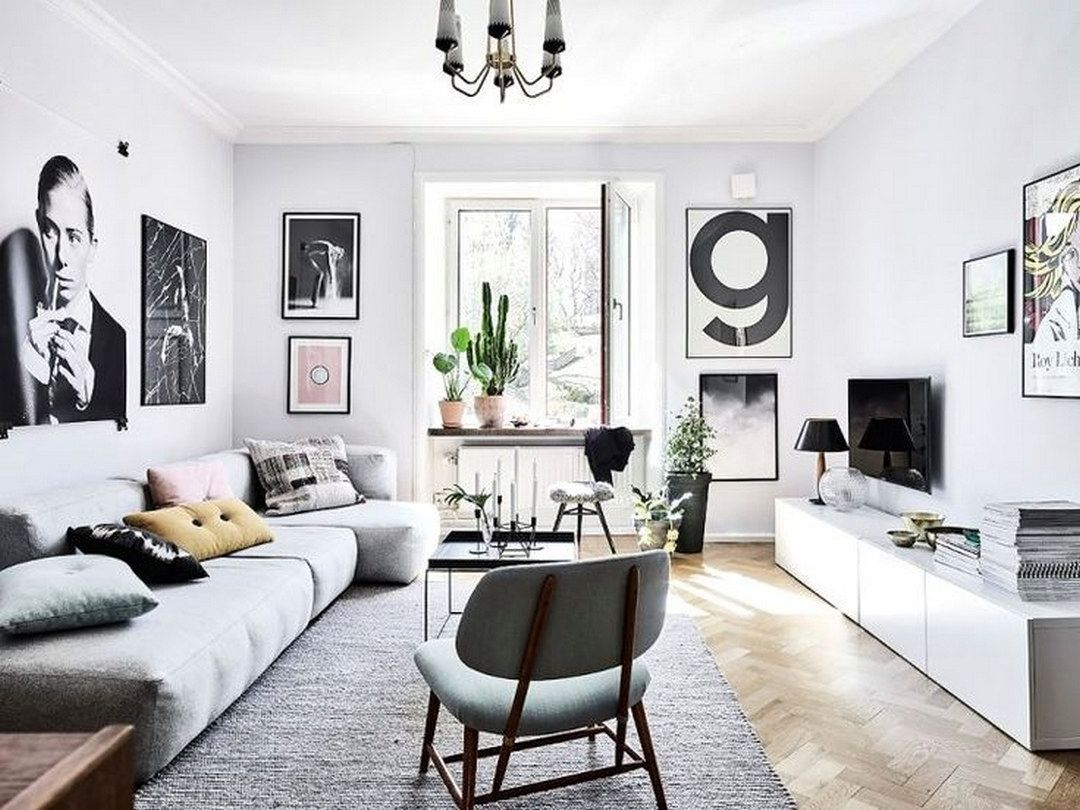 Gemütlichen Und Angenehmen Grau Wohnzimmer Möbel Eine Der Modischen Farben  Zu Dekorieren Ihr Wohnzimmer Ist Die Chromatische Grau Bereich, Also Im He.