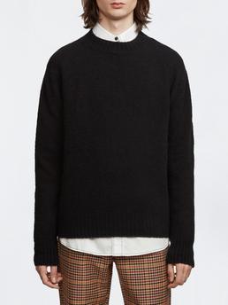 Crew Neck Wool Cashmere Black Cashmere Crew Neck Scandinavian Fashion