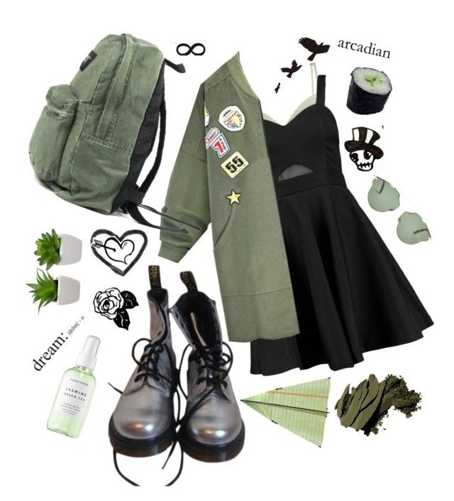 Not Enough Noise And Too Much Racket By Watermelonandmusyc Liked On Polyvore Featuring Dr Martens La Perla Boohoo Dior Herbivore