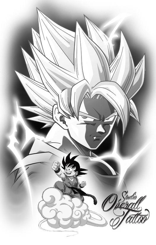 Goku Tattoo Studio Overall Tattoo Goku Zeichnungen Tattoo Ideen
