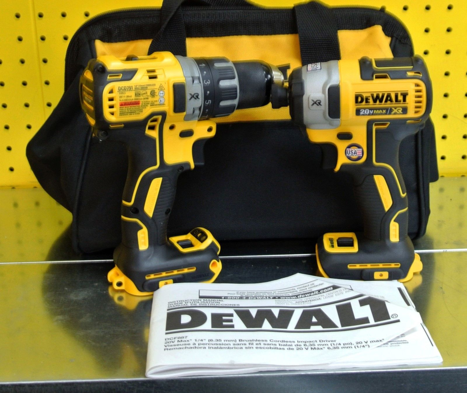 DeWalt 20V combination set CDF887 impact driver DCD791 cordless drill driver https://t.co/xPABTVT1PR https://t.co/EVgiRmwzYV
