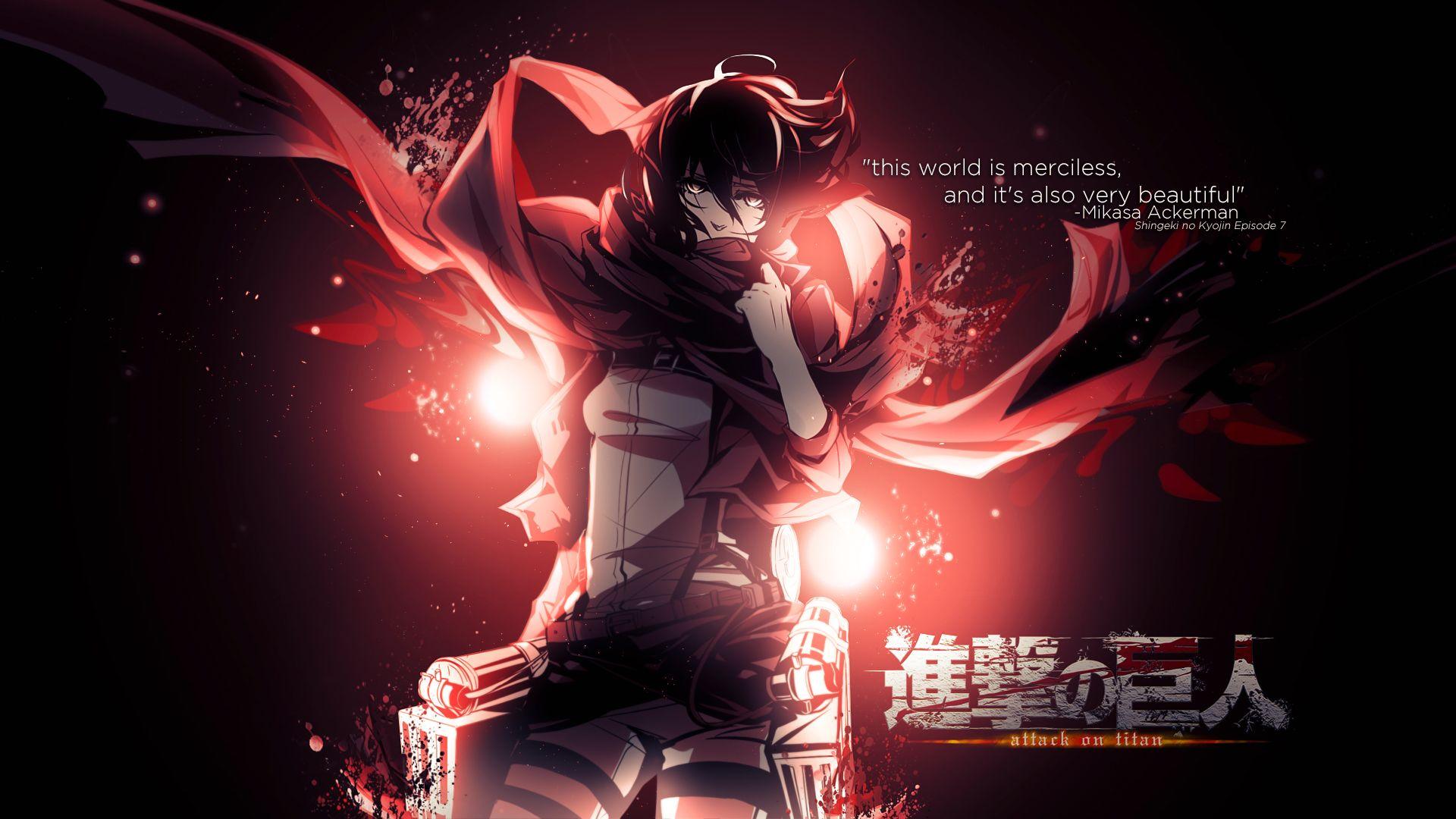 Anime Attack On Titan Mikasa Ackerman Shingeki No Kyojin Wallpaper Attack On Titan Cool Anime Wallpapers Anime Wallpaper
