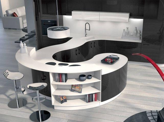 La cuisine noire et blanche plus contemporaine que jamais ! - Elle
