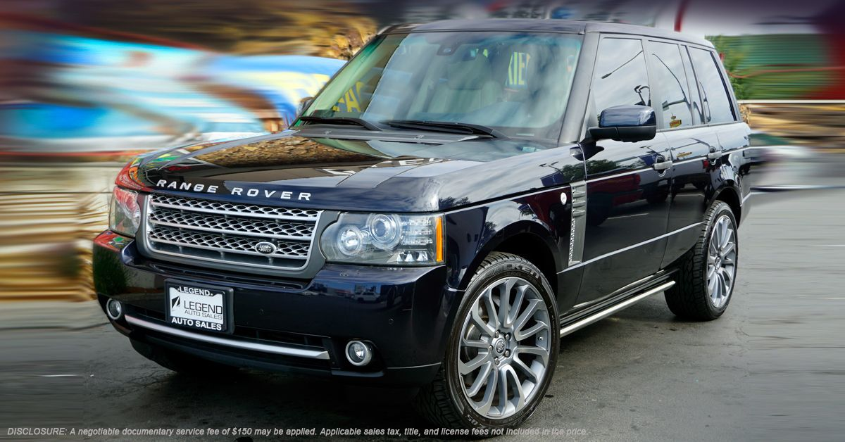 2010 Land Rover Range Rover - SuperCharged •510hp 5.0L supercharged V8 •6-speed auto with manumatic mode •0-60 in 5.9 seconds