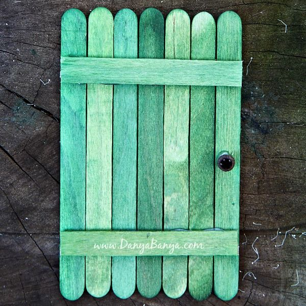 Revelation 1-3; Godu0027s Warning to Seven Churches- Behold I Stand at the Door  Popsicle Stick Door Craft & An invitation to the fairies: DIY Fairy Door | Pinterest | Door ...