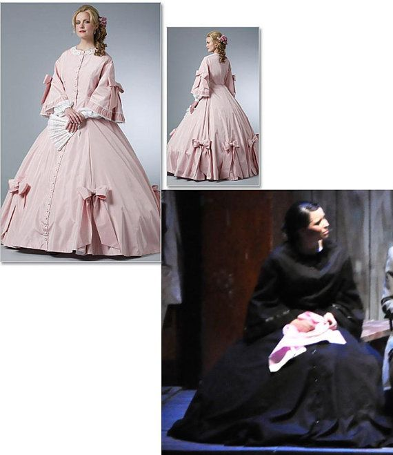 Civil War gown early Victorian reenactment gown costume ...