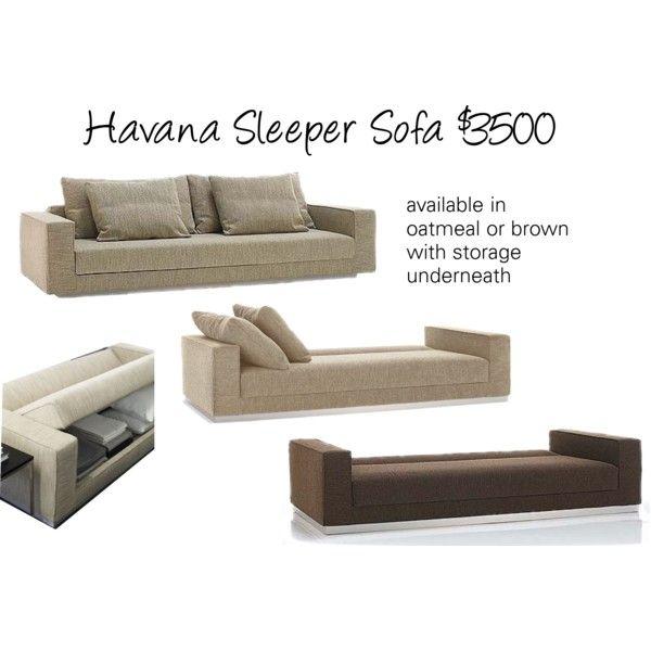 Chaise Sofa Dwr Havana Sleeper Sofa Polyvore