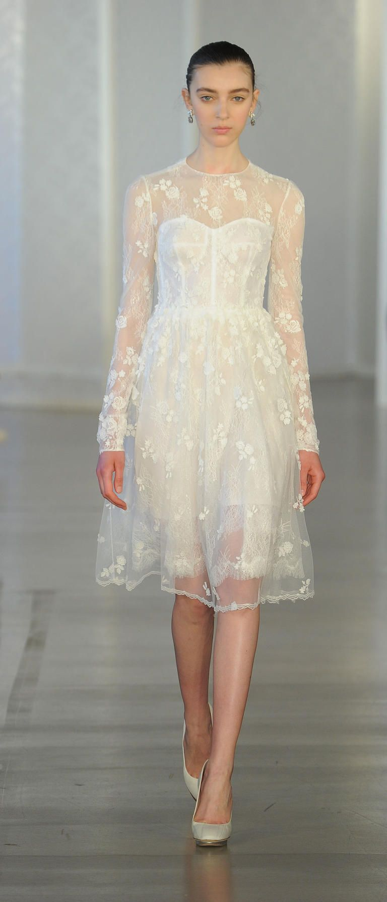 15 Wedding Dresses Perfect For An Elopement 11 Short Dress With Sheer