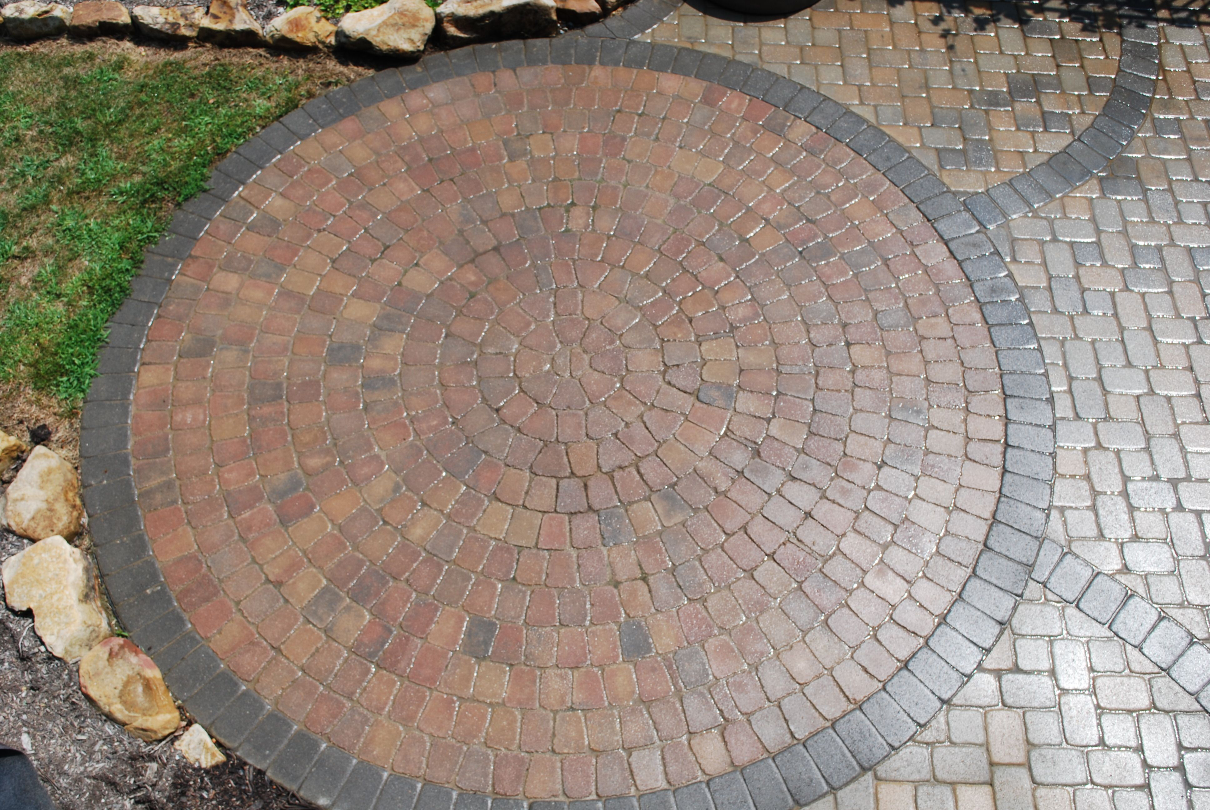 Pin By Outside Insight On Patios Circular Patio Patio Kits Paver Patio