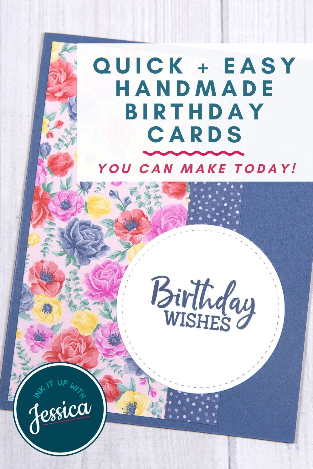 easy birthday cards with pretty papers  simple birthday