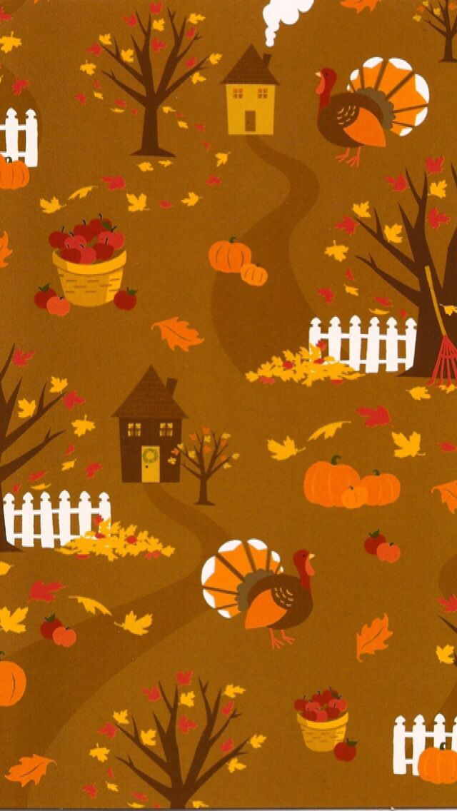 Iphone Wallpaper Thanksgiving Tjn With Images Fall Wallpaper