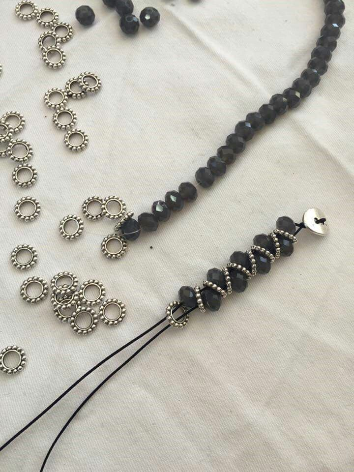 Metal Rain-AM $75. I may make this with paper beads today.   jewelry ...