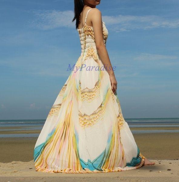 Sommer Neue lange Maxi-Kleid Partei Strand Kleid von MyParadise auf ...