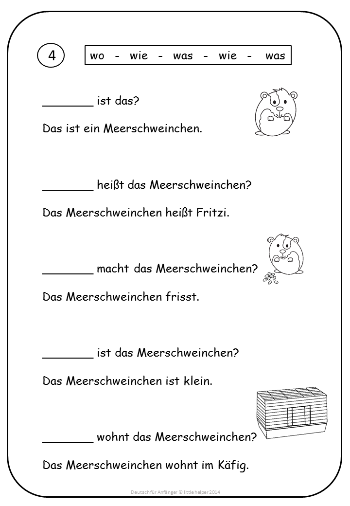 German for Beginners Easy Reading texts and worksheets | German ...