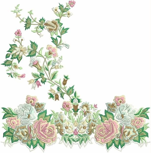 Free machine embroidery designs patterns floral and