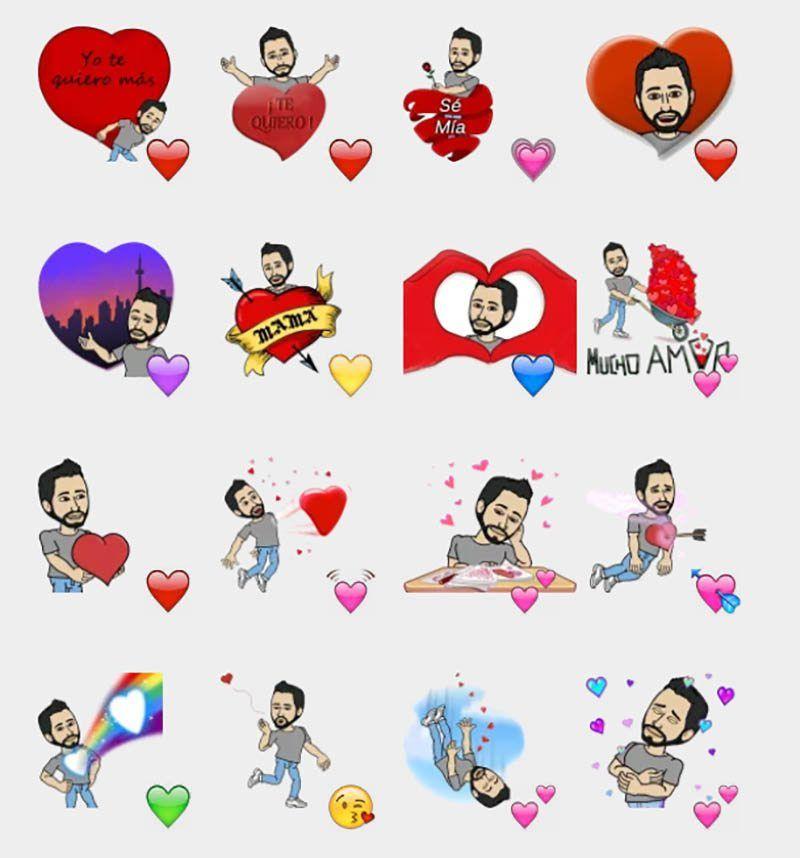 Emoticones stickers de amor imágenes