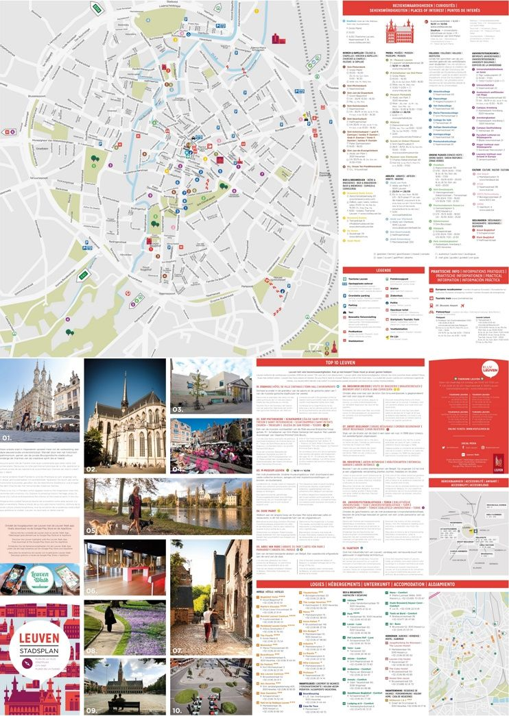 Leuven sightseeing map Maps Pinterest Belgium and City