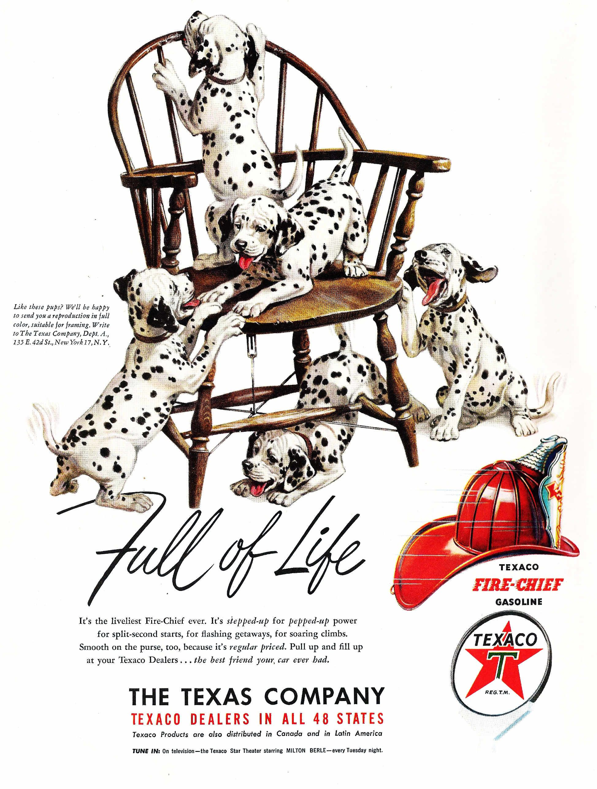 Texaco ad from the early 1950's. Texaco, Vintage ads