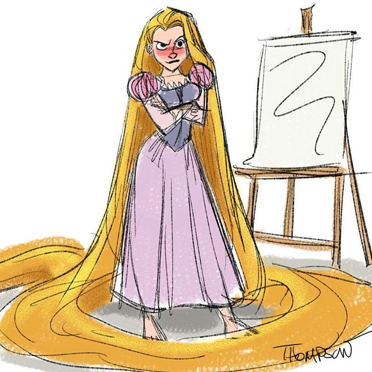 What do you mean, no life drawing this week?!? #fridays #busy #disney #doodle #rapunzel #tangled #lifedrawing #sthompsonart