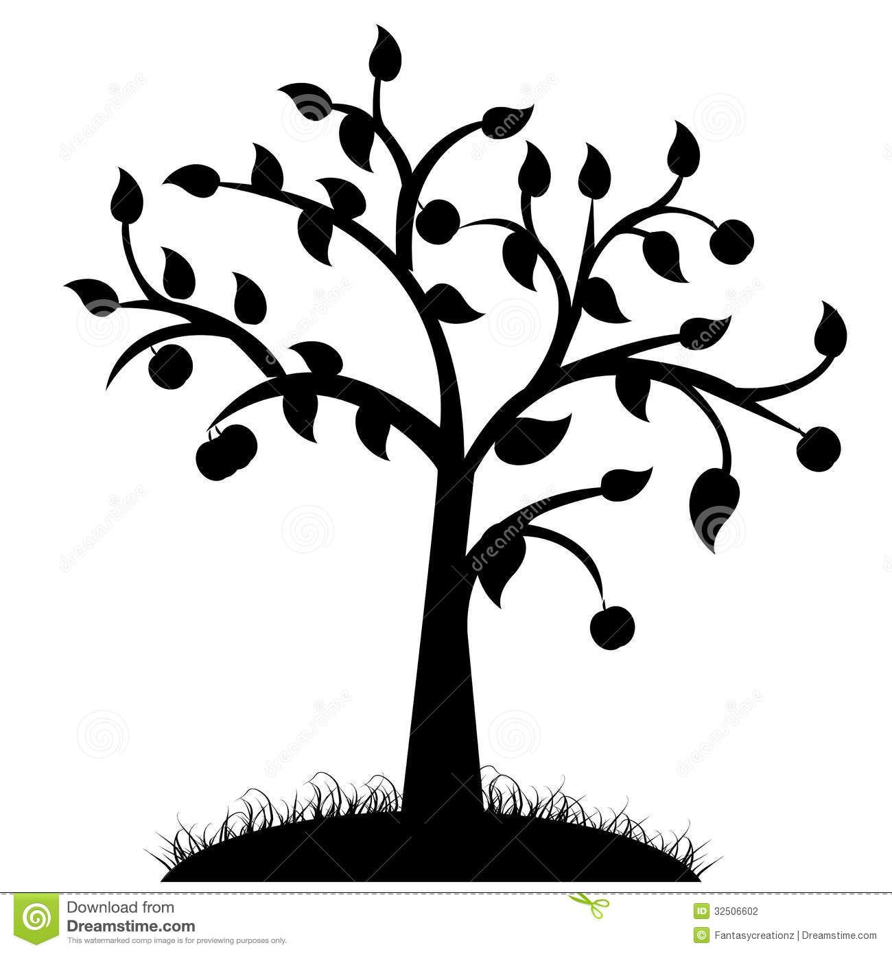 Simple Black Tree Silhouette | www.pixshark.com - Images ...