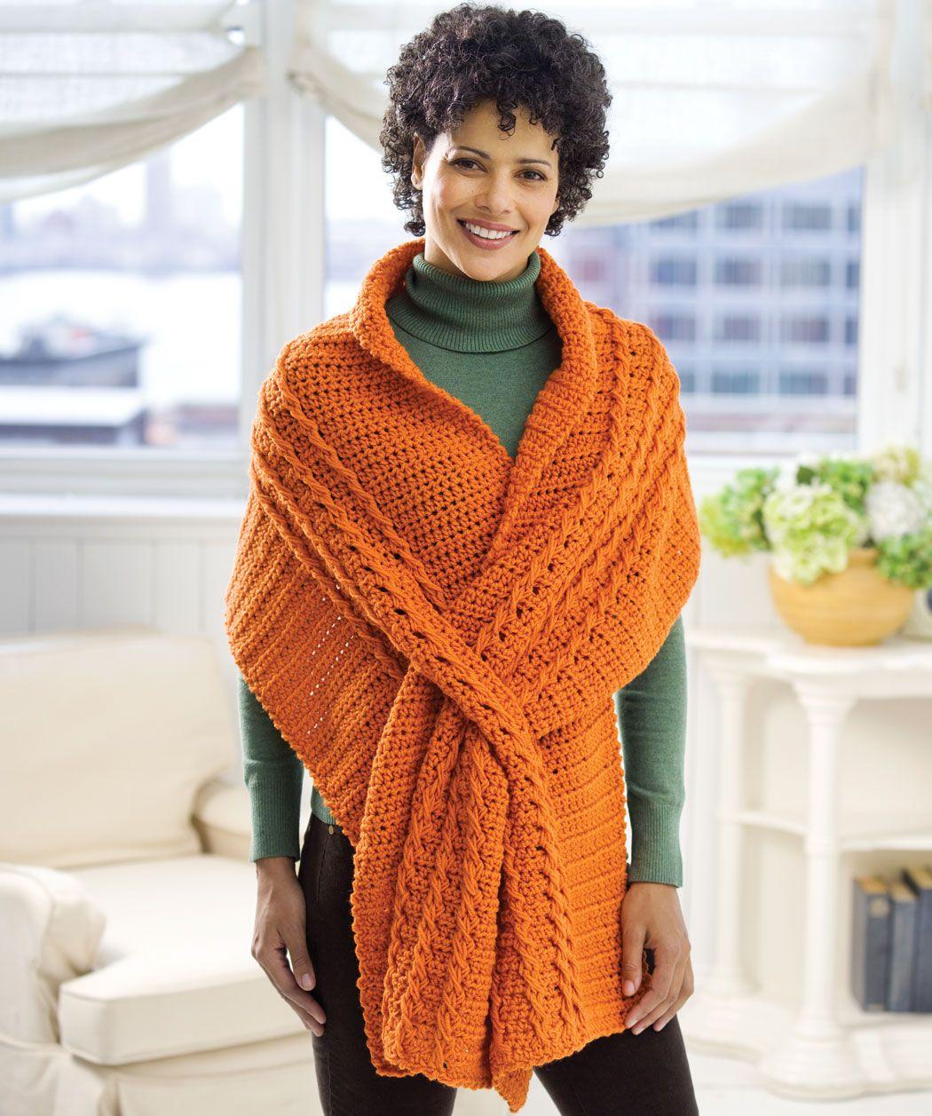 Crochet Wrap with Slits: free pattern