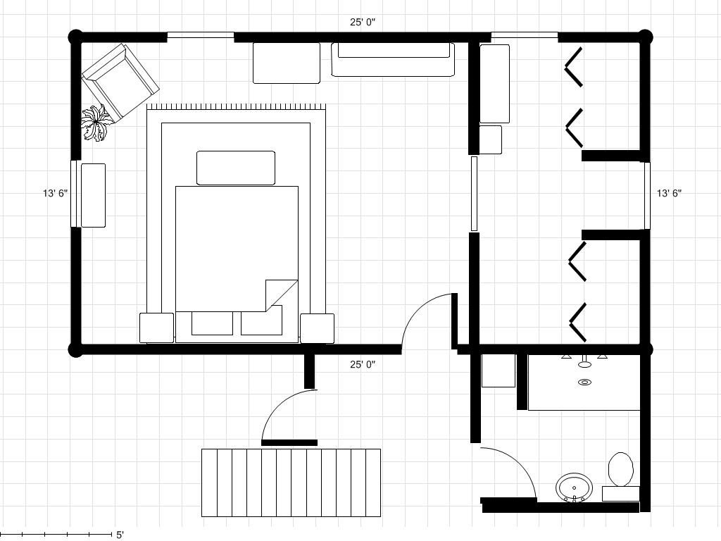 30 39 x 18 39 master bedroom plans bathroom to a master for Bedroom and bathroom