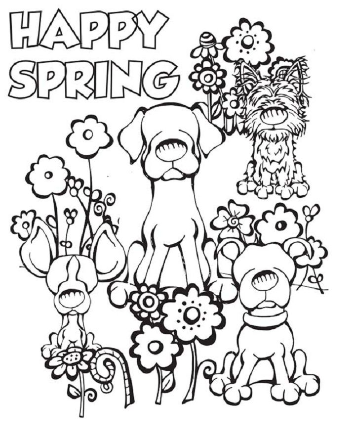 Spring Coloring Pictures for Kindergarten Spring