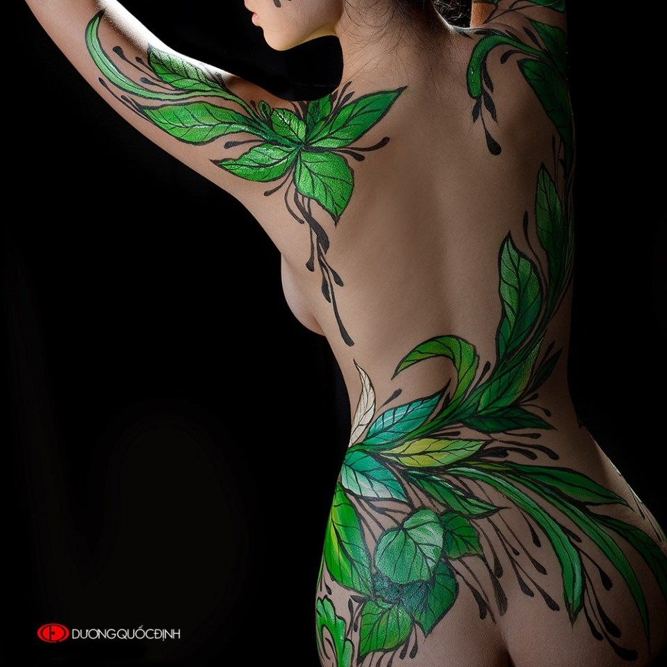 Image result for hoọa sĩ body painting nude