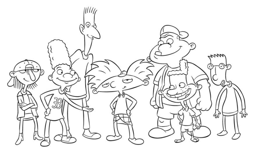 hey arnold coloring pages hey arnold coloring pages | Coloring Board | Pinterest | Coloring  hey arnold coloring pages