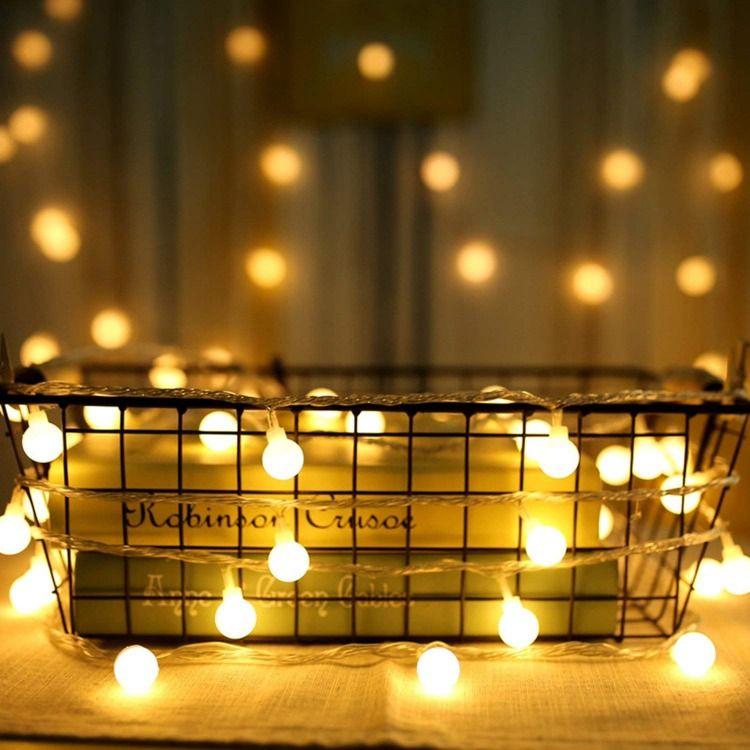 Fête Guirlande ampoules guirlande à piles Deco Lampe Lumières