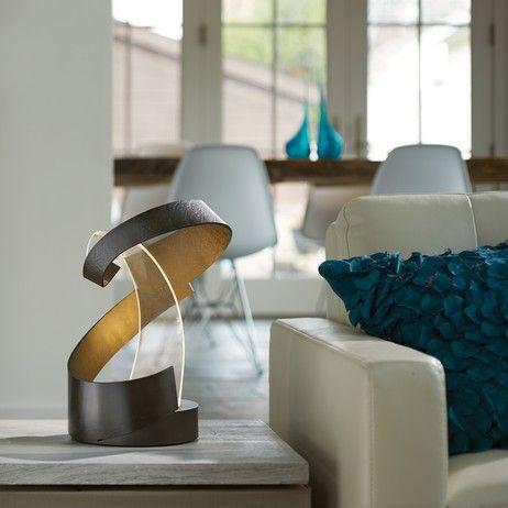 Modern, unique steel LED table lamp on #Modenus #Lighting #Designhounds