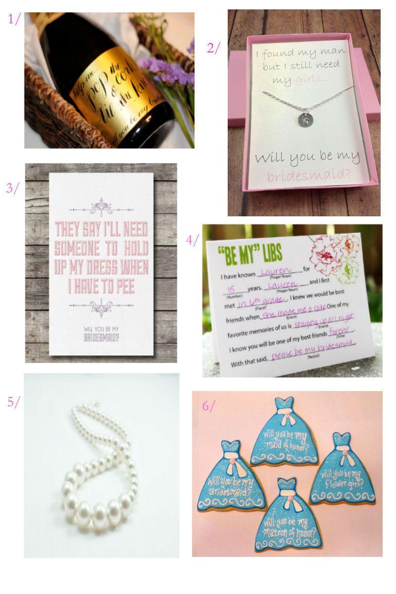 Be My Bridesmaid 6 Creative Ways to Say It photo