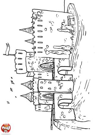 Coloriage ch teau 2 v r mese pinterest ch teaux - Dessin chateau moyen age ...