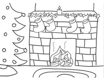decorated christmas stockings coloring pages - photo#15