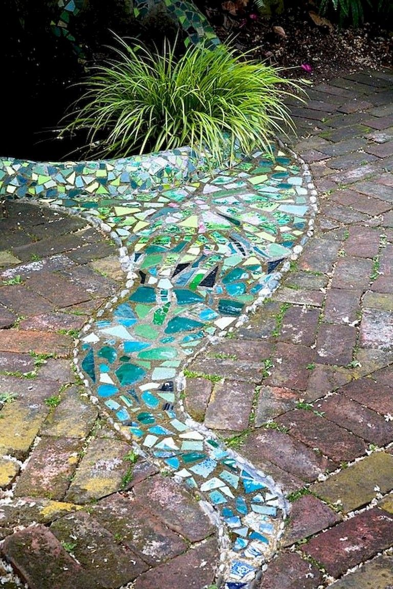 50 creative ideas for a charming garden path mosaic on magnificent garden walkways ideas for unique outdoor setting id=89000