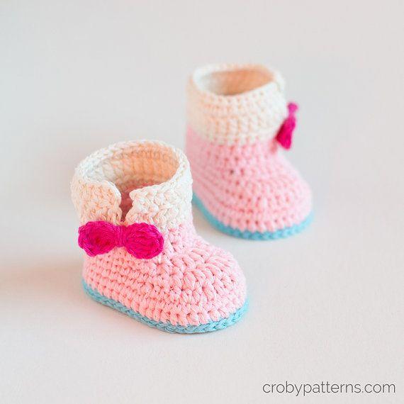 86bfaae323bb9 CROCHET PATTERN - Crochet Baby Booties Baby Unicorn - Baby Shoes ...