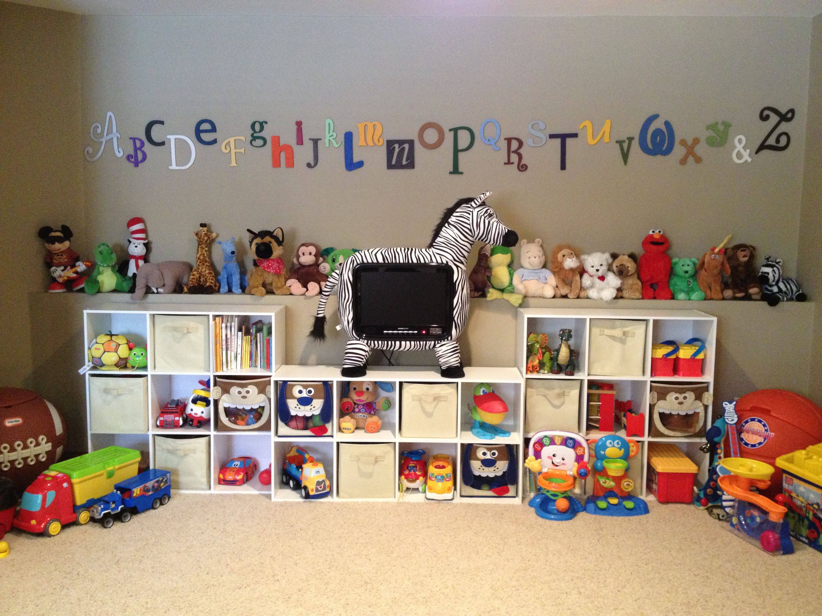 children's playroom with organization | for the house | pinterest