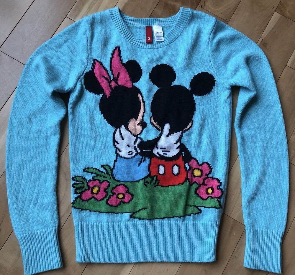 Minnie And Mickey Mouse Disney Sweater  fashion  clothing  shoes   accessories  womensclothing  sweaters (ebay link) 67522b282