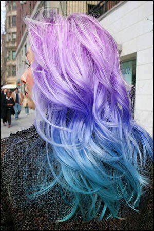 Purple Blue Ombre Hair Cool Hair Color Brunette Hair Color Blue Ombre Hair
