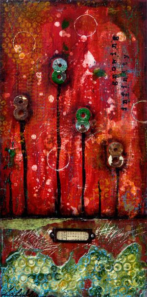 Growing infinity : mixed media painting by Laly Mille