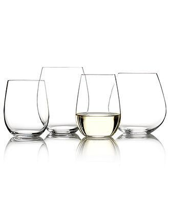 Raise the bar with Riedel stemless wineglasses at the next couples get-together