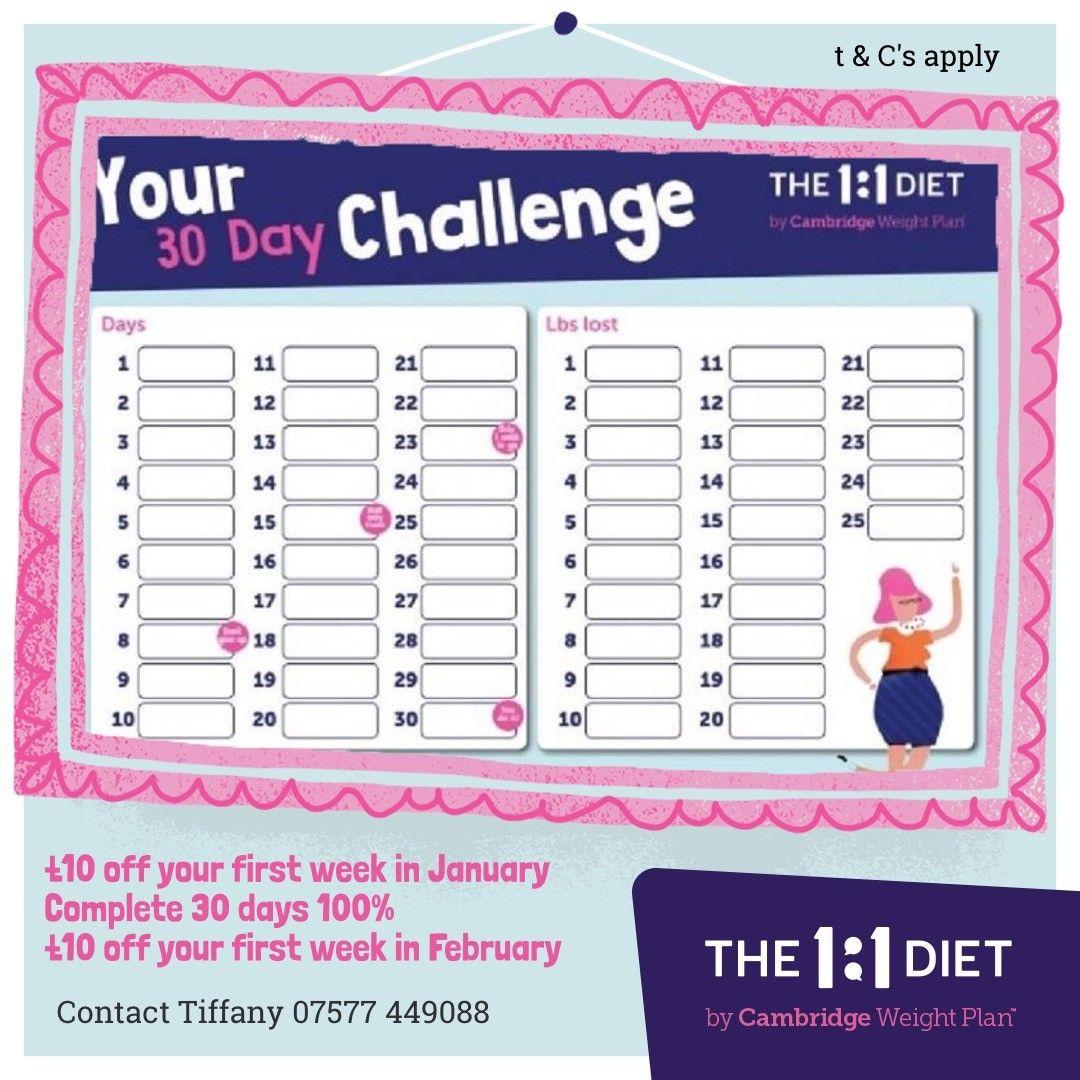 cambridge diet 30 day plan