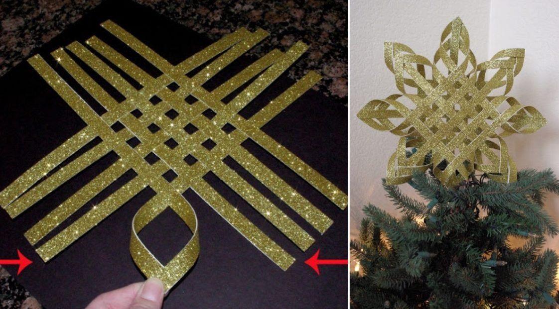 Aprende Hacer Una Preciosa Estrella De Navidad Que Usar En El Arbol Puerta O Centro De Mesa Estrellas De Navidad Estrella De Navidad Manualidades Arbol De Navidad Manualidades