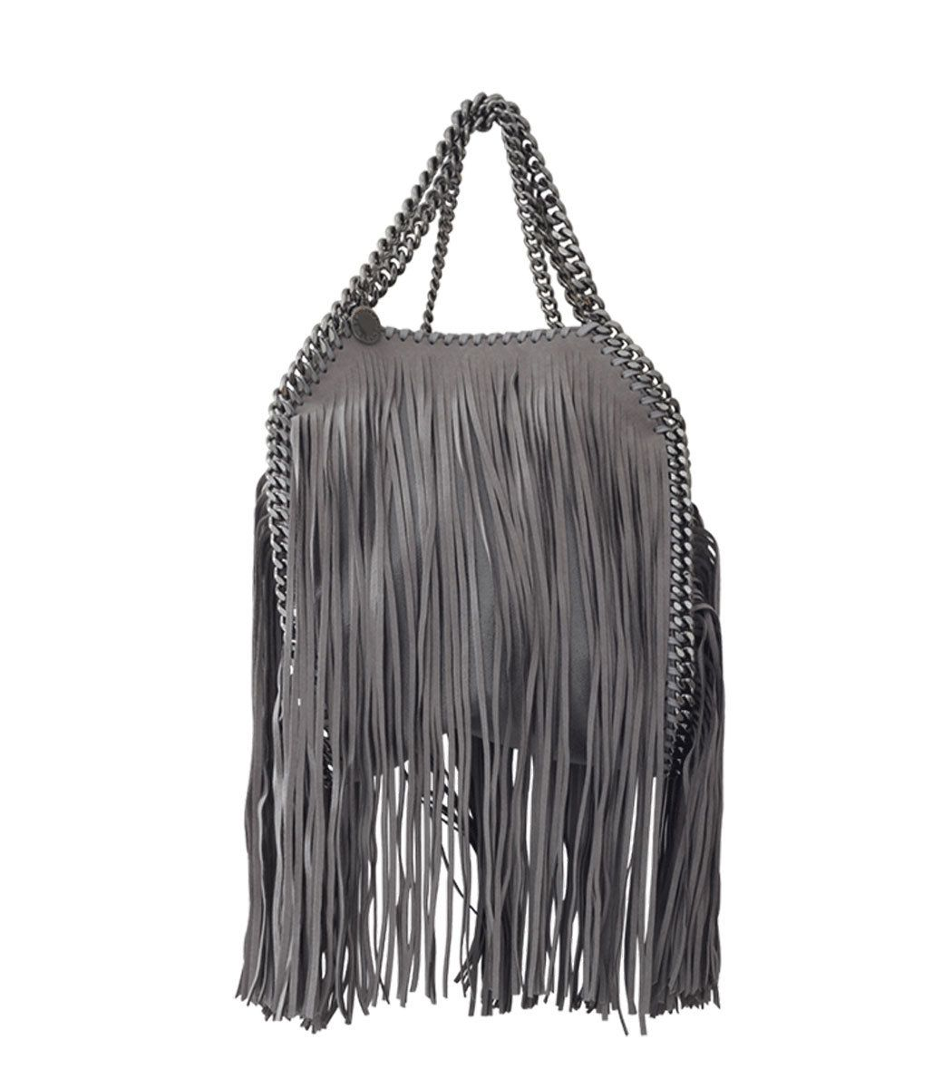 9d4837ad2d55 Stella McCartney Fringed Falabella Mini Tote Grey Tote Bags