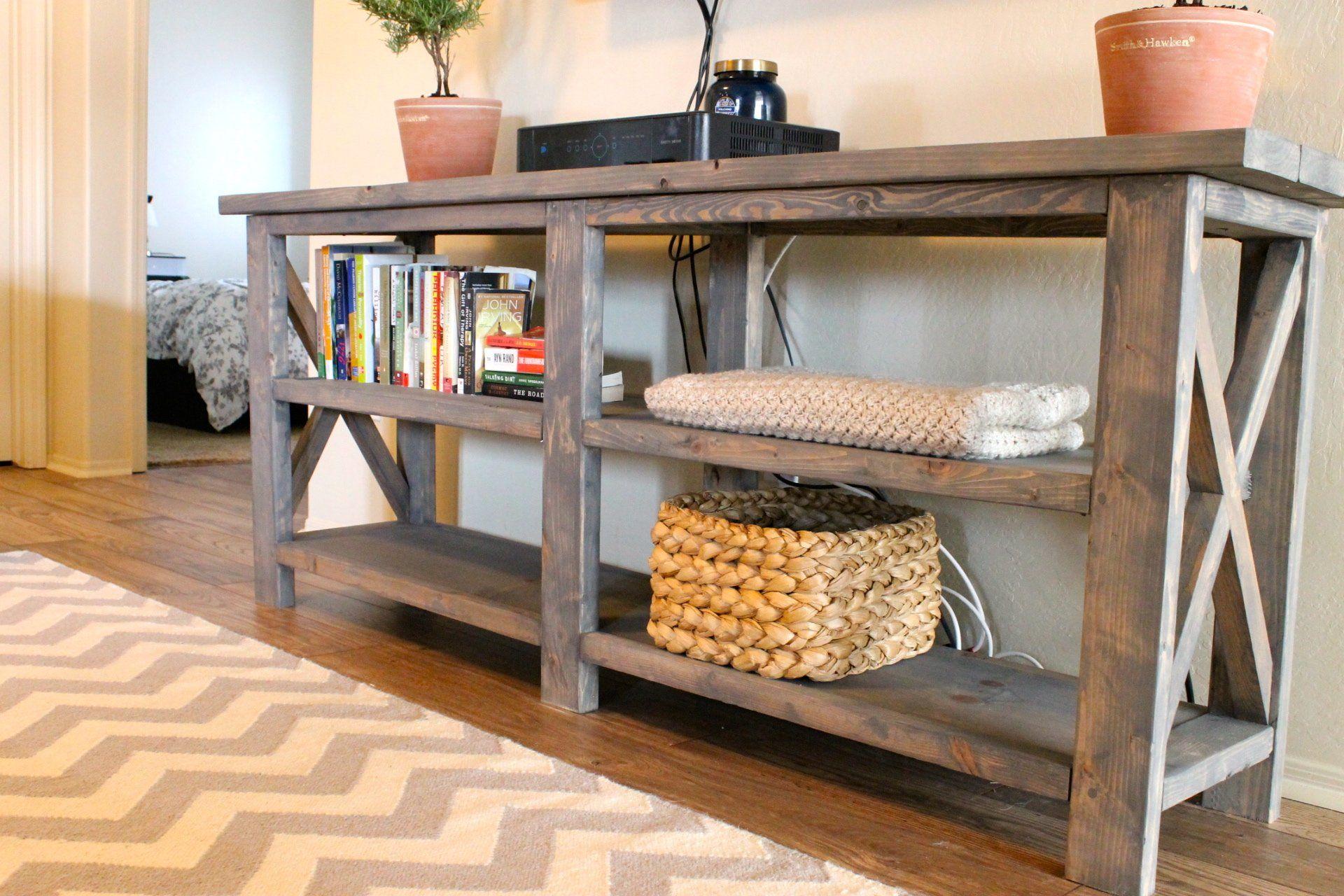 furniturevintagelookrusticwoodconsoletablewith