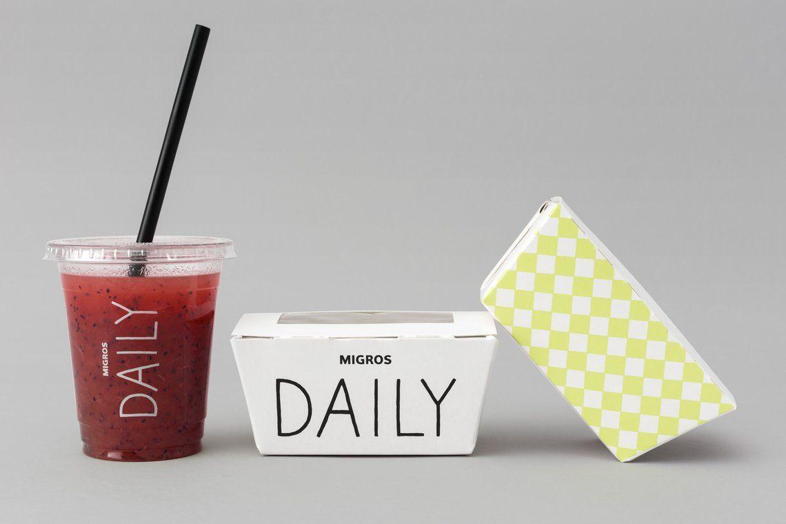 Brand Packaging Design Migros Daily Allink Ag Allink