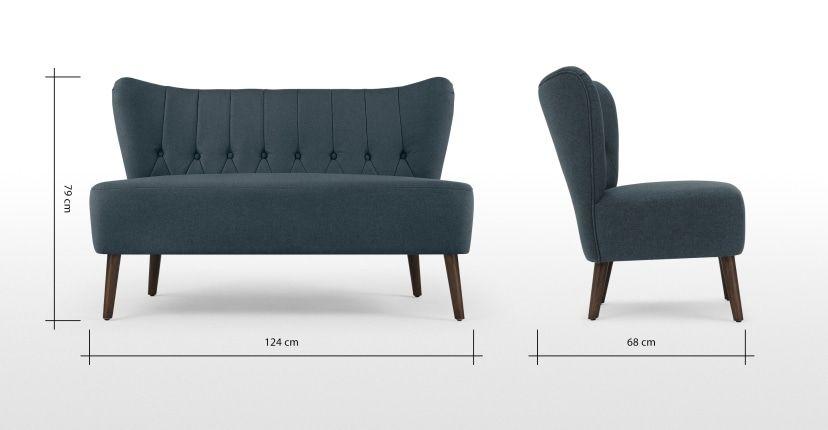 Made Sofa Blau In 2019 2 Sitzer Sofa Sofas Und Sofa