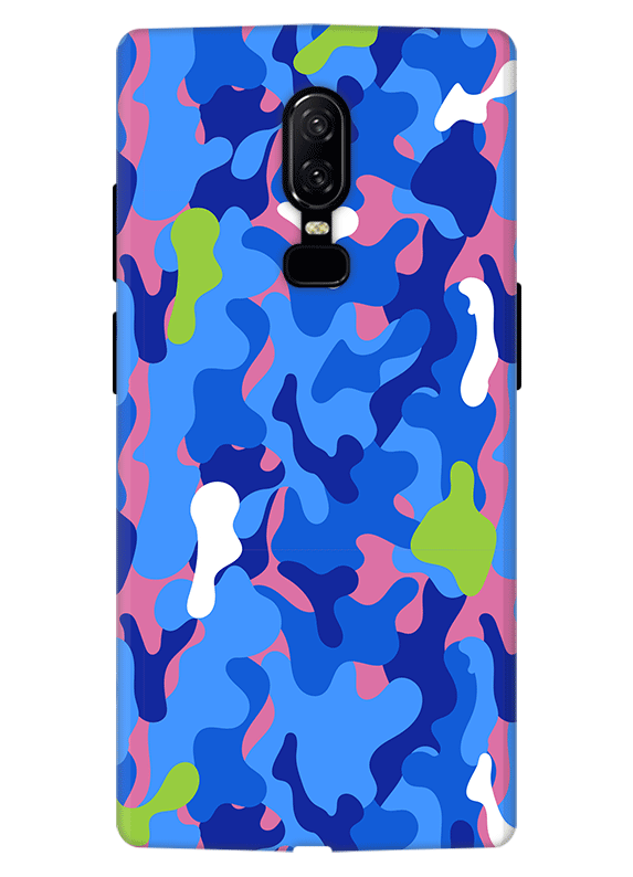 sports shoes 71f1a 194bb Blue Camouflage Phone Case for Oneplus 5, Oneplus 5T, Oneplus 6 ...
