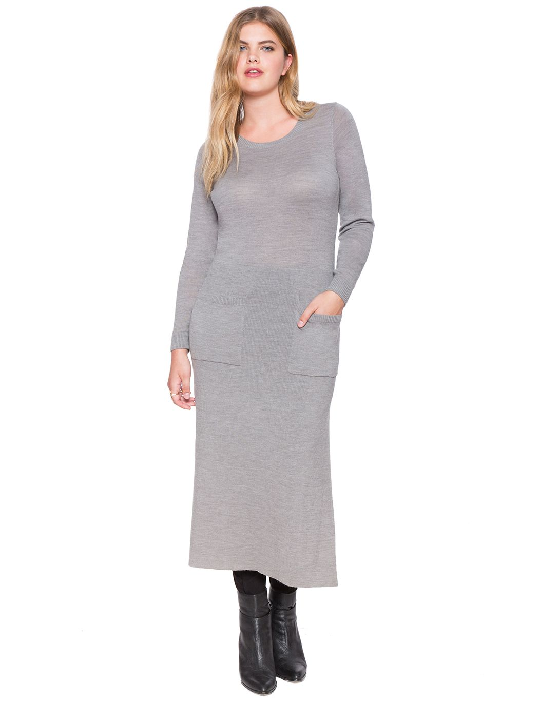 Long sweater dress womenus plus size dresses eloquii wishlist