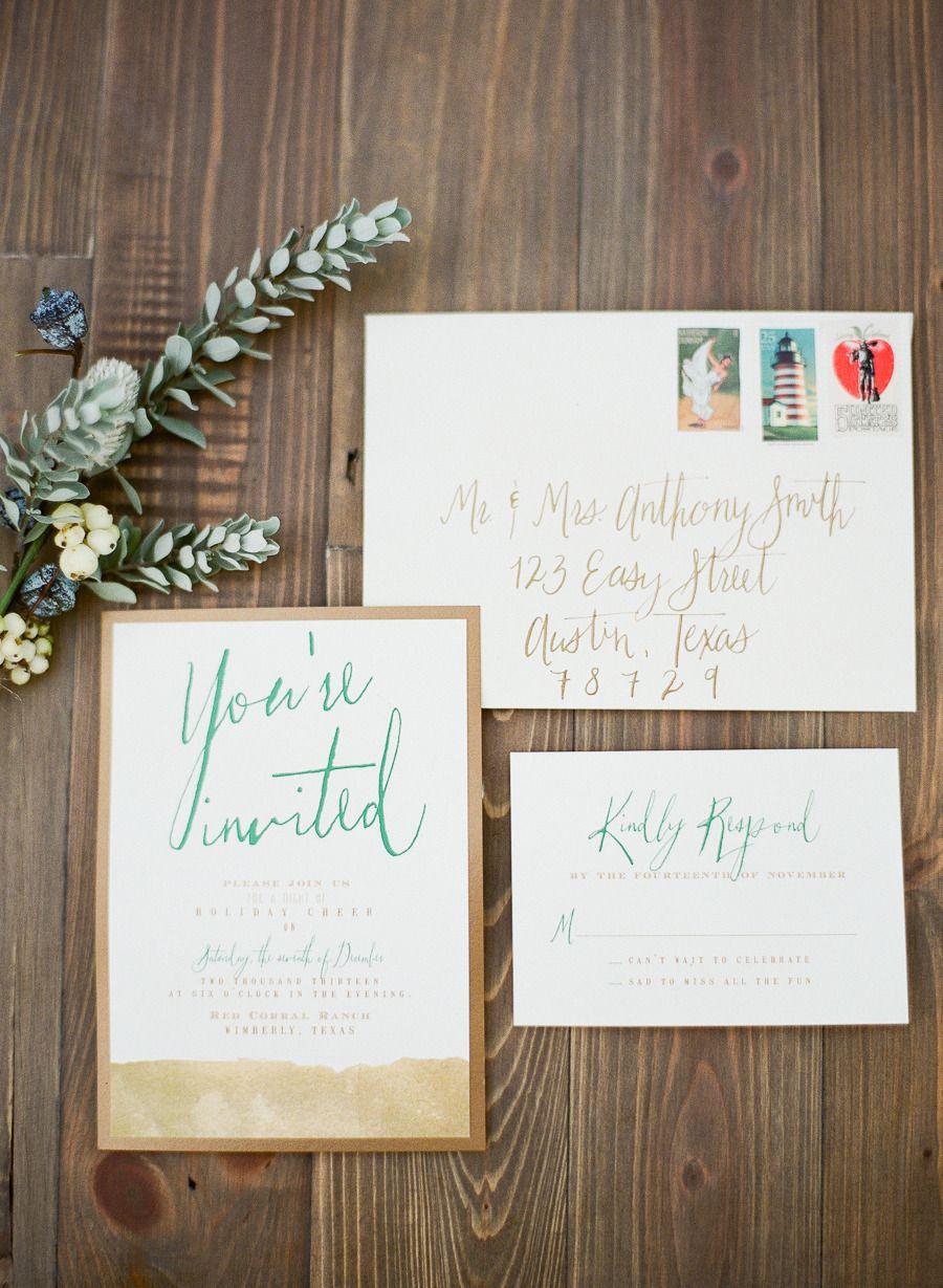 Cozy Outdoor Wedding Inspiration | Wedding Invitations & Paper Suite ...